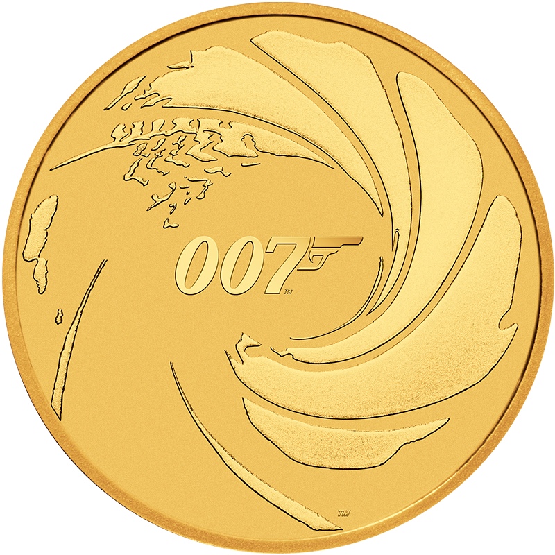 Image for 1 oz James Bond 007 Gold Coin from TD Precious Metals