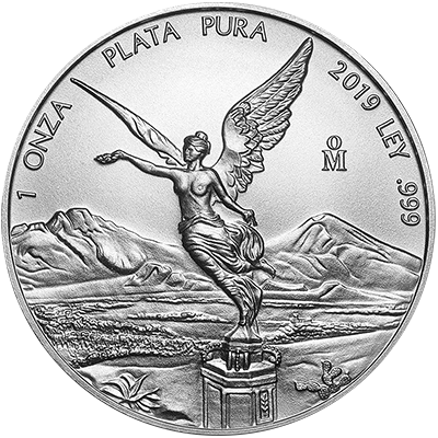 A picture of a 1 oz. Mexican Silver Libertad (2019)
