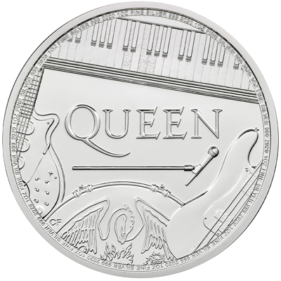 A picture of a Queen 1 oz Silver Coin (2020)