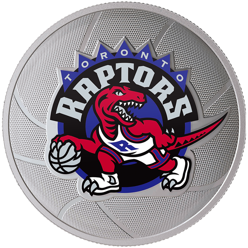 Image for Toronto Raptors 25th Season 1 oz Silver Coin from TD Precious Metals