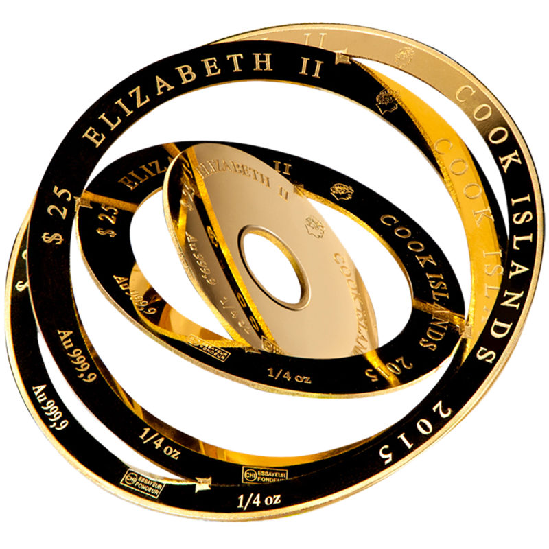 Image for 1 oz Valcambi Cook Islands Gold Armillary Coin from TD Precious Metals