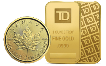 Two gold bars and a gold coin