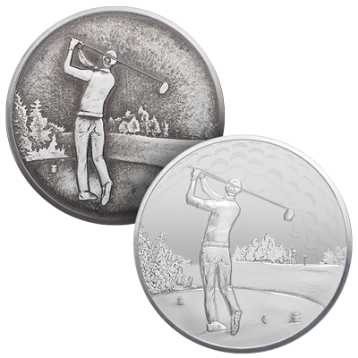 Buy the TD Silver Golf Round or Ball Marker
