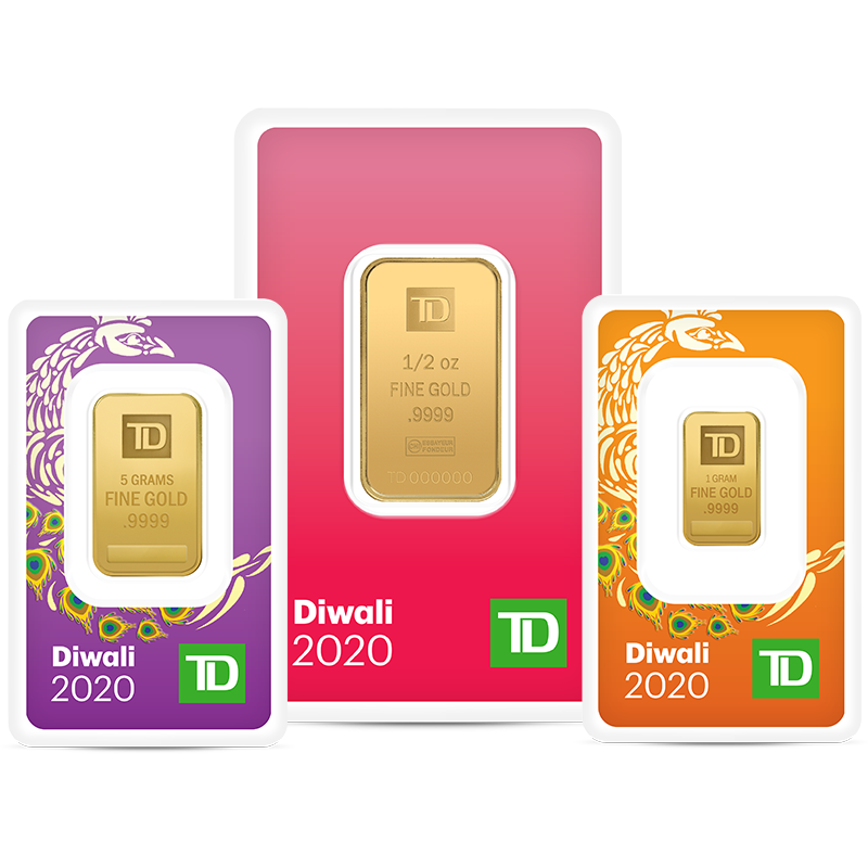 Buy the special edition TD Diwali gold bars.