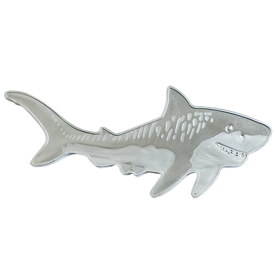 Buy the 1 oz. pure Silver Tiger Shark Coin.
